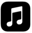 iTunes note (blk)