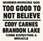 TOO GOOD TO NOT BELIEVE (Cody Carnes & Brandon Lake)